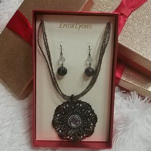 NWT ERICA LYONS Necklace & Earring Set